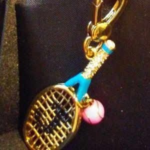 JUICY COUTURE Crystal Tennis Racquet Charm YRU5664